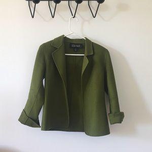 Vintage Green Wool Blazer